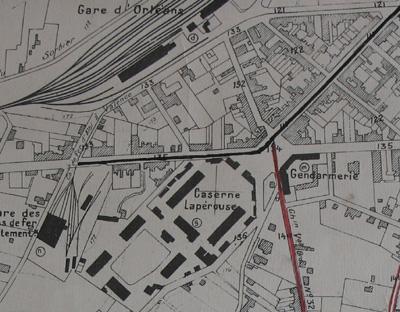 Plan 1928. Le quartier est bien urbanisé.